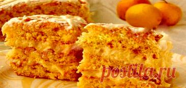 Бисквитный торт с ябочно-лимонным заварным кремом Читать далее...