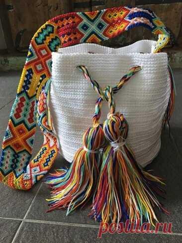 Вязаные сумки в стиле Бохо - идеи для вдохновения. Фантазийные изделия   Вертолет на пенсии   Яндекс Дзен