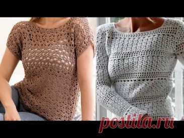 Женские модели крючком для начинающих - Women's crochet patterns for beginners
