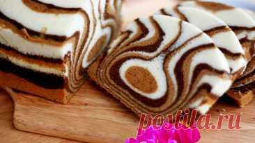 Пирог Зебра 🦓 рецепт с фото пошагово в домашних условиях