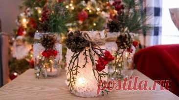 Стеклянные банки — идеальный декор на Новый год Вы только посмотрите на этот идеальный новогодний декор! Снег, шишки, ветки, свеча... Читай дальше на сайте. Жми подробнее ➡