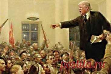 Дональд Трамп объявляет соратникам о создании соцсети «Правда».