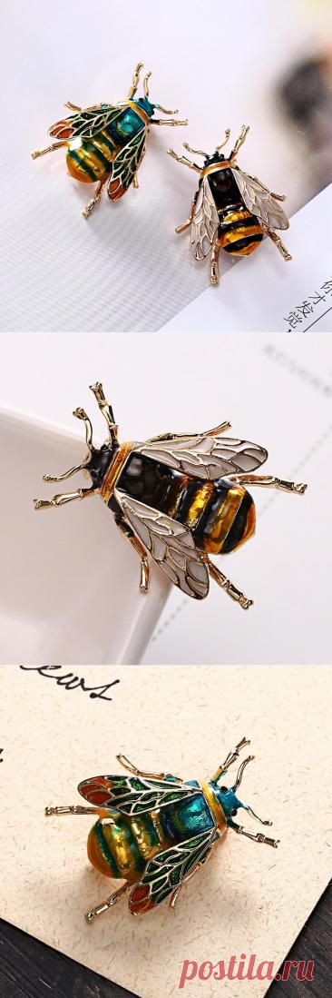 RINHOO эмалевые броши в виде шмеля для мужчин женщин мужчин Милая желтая зеленая пчела насекомое брошь винтажные булавки на лацкан дружба подарок | Украшения и аксессуары | АлиЭкспресс