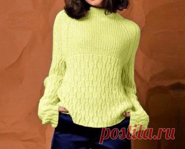 Изящный свитер с рукавами реглан