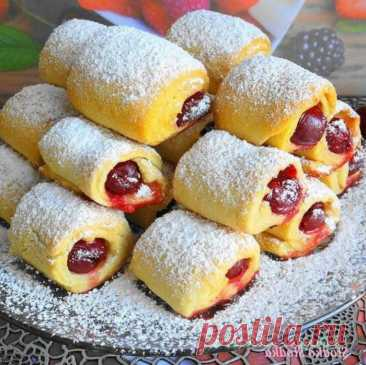 Быстpoе печенье с вишневoй нaчинкoй