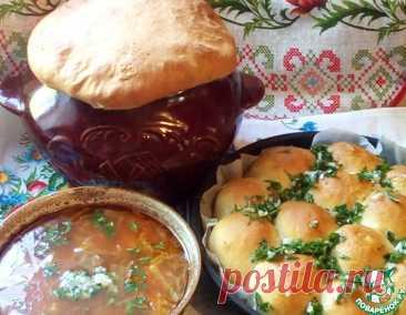 Украинский борщ в горшочке с пампушками – кулинарный рецепт