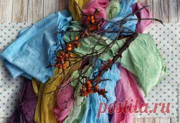 Мастер-класс : Красим ткань натуральными красителями в домашних условиях | Журнал Ярмарки Мастеров