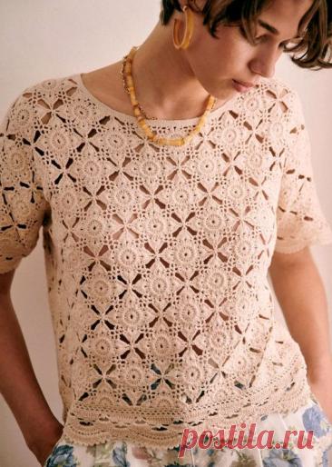 Вдохновляемся вязанными изделиями Sezane. Новая подборка из 6 стильных вязаных летних кофточек, топов и платья сезона 2021 | Таша Солнцева ~ Вязание и тренды | Яндекс Дзен