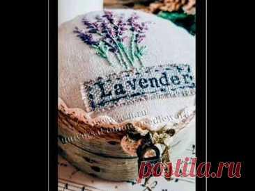 Мини шкатулка с вышивкой «Lavender»   Мини видео МК