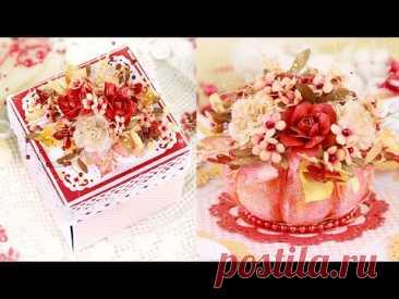 Шикарный подарок-сюрприз своими руками. Осенняя коробочка-открытка . Супер Идея! DIY autumn craft