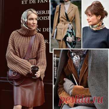 Как носить шелковый платок