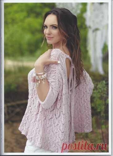 Широкий розовый пуловер. Спицы.   Вяжем,Вяжем,Вяжем(Вязание)   Яндекс Дзен