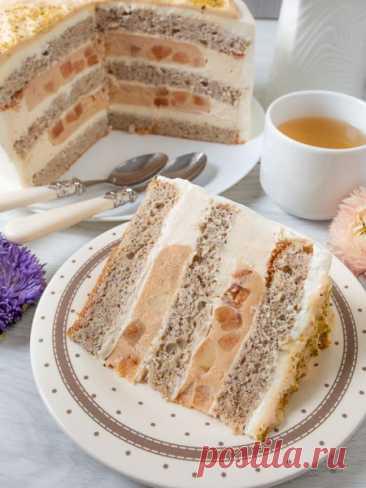 """Рецепт торта """"Карамельное яблоко"""" 🔥 на Вкусном Блоге"""