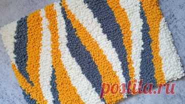 Вот это да! Супер коврик своими руками из Alize Puffy Fine! | Natali_crochet | Яндекс Дзен
