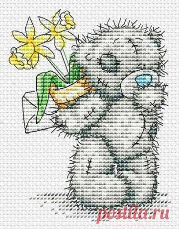 Вышиваем с детьми мишку Тедди