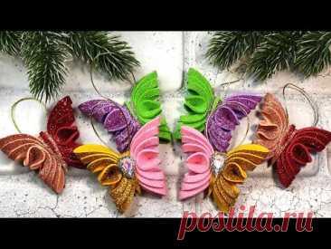 3 Идеи Ёлочных игрушек, новогодние украшения из фоамирана 🎄 3 DIY  christmas ornaments
