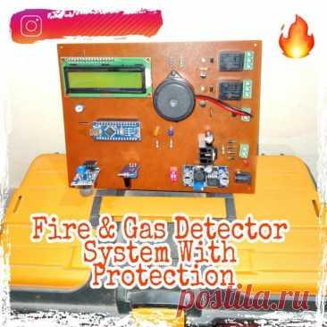 Прибор обнаружения газа и огня с функцией включения вентиляции и системы пожаротушения