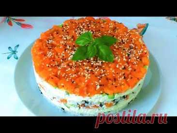 Суши Торт Филадельфия, вкусный как настоящие роллы! Супер вкусная закуска для праздничного стола!