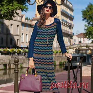 Вязанное платье, стиль Missoni