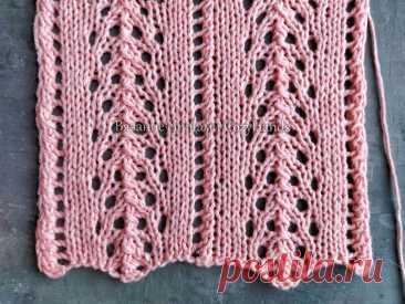 Великолепные ажурные дорожки спицами для вязания свитеров, палантинов   Вязание спицами CozyHands   Яндекс Дзен