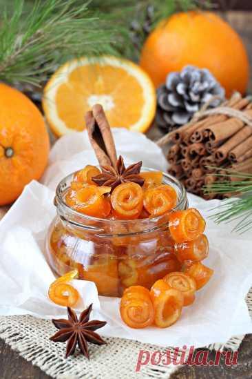 """Апельсиновые цукаты """"розочки"""""""