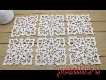 КВАДРАТНЫЕ МОТИВЫ вязание крючком СОЕДИНЕНИЕ мастер-класс для новичков  Crochet square motifs simple