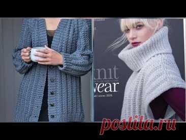 Вяжем фундаментальную резинку для пальто и кардиганов 🚩 knitting pattern.