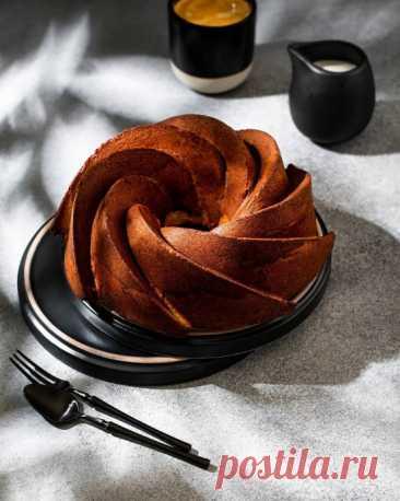 Простой кекс с какао