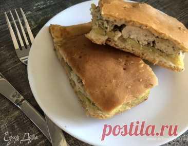 Пирог с курицей и картошкой, пошаговый рецепт на 3741 ккал, фото, ингредиенты - Марина