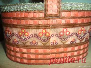 Корзинка с цветами шовчиками!   Другие виды вышивки