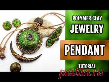 ¡DIY! ETHNIC JEWELRY Set making with Round Pendant with Lisa Pavelka FOILS. ¡HOW to Make!