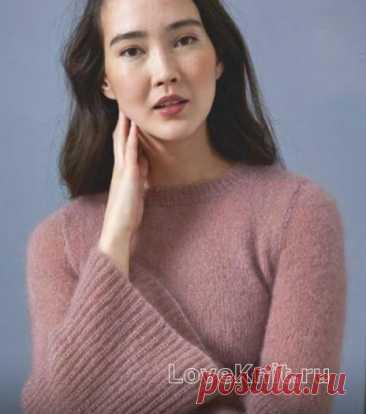 Пуловер с расклешенными рукавами схема крючком » Люблю Вязать