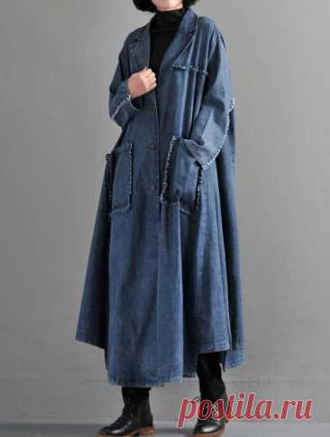 Women Oversize Cowboy Coat Loose Cowboy Windbreaker Cotton   Etsy