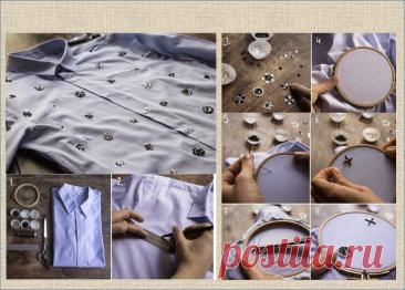 100 идей для переделки скучной джинсовой рубашки | МНЕ ИНТЕРЕСНО | Яндекс Дзен