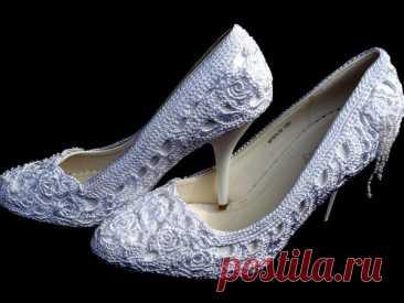 Мастер-класс смотреть онлайн: Вяжем нарядные туфли к свадьбе | Журнал Ярмарки Мастеров