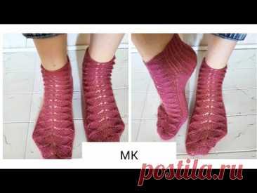 #носки_спицами   Красивые носки спицами // Мастер класс подробный