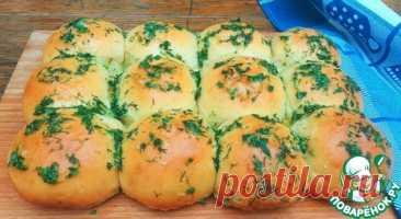 Пампушки с сыром, чесноком и зеленью – кулинарный рецепт