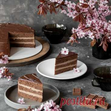 Prague cake - the step-by-step recipe with a photo