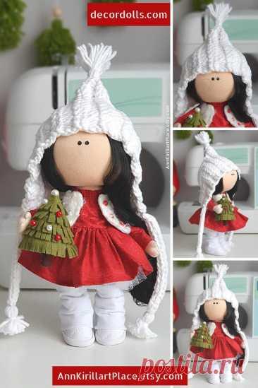 Christmas Winter Decor Doll Handmade Interior Doll Nursery | Etsy