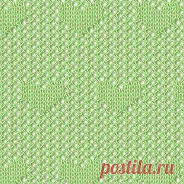 Два симпатичных узора спицами #knitting #вязание_спицами #узоры_спицами