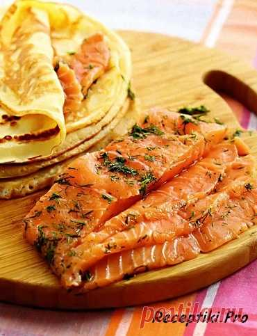 Red fish of fast salting. In shop you will not buy such