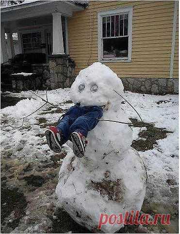 Агрессивный снеговик / Городская среда (граффити, снеговики, ets) / Модный сайт о стильной переделке одежды и интерьера