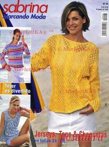 SABRINA GANCHILLO 28 2009 - The SELECTION FROM 20 SMART PULLOVERS of Sabrina Ganchillo Year: since 2004 the Genre: Knitting by a hook Publishing house: BVP Medien Language: The Spanish Magazine on knitting. Jackets, blouses, topics are given.