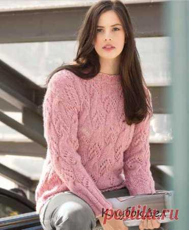вязаные спицами пуловеры и кофты для женщин с описанием и схемами