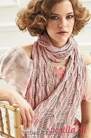 Розовый шарф | ДОМОСЕДКА