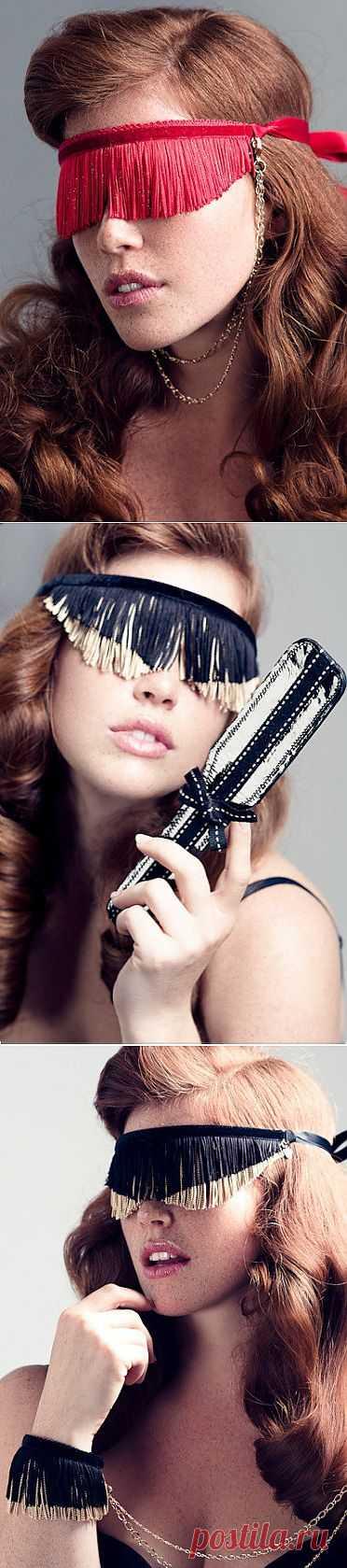 Необычные повязки на глаза - из бахромы / Аксессуары (не украшения) / Модный сайт о стильной переделке одежды и интерьера