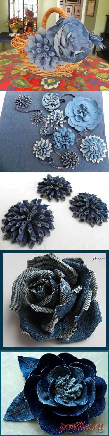 Джинсовые цветы   ШПИЛЬКИ