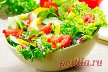 7 весенних салатов со свежей зеленью