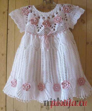 Летнее платье крючком » Ниткой - вязаные вещи для вашего дома, вязание крючком, вязание спицами, схемы вязания