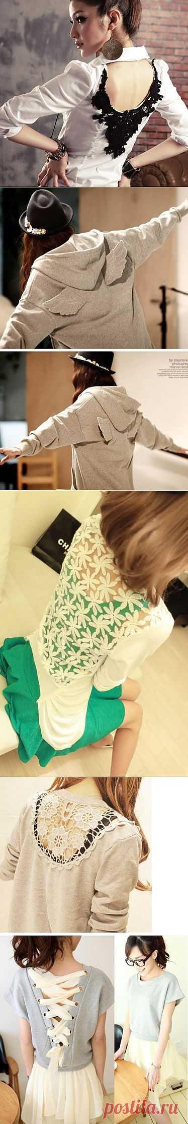 Декор спины (подборка) / Декор спины / Модный сайт о стильной переделке одежды и интерьера